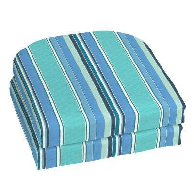 Sunbrella Dolce Oasis Contoured Outdoor Seat Cushion (2-Pack)