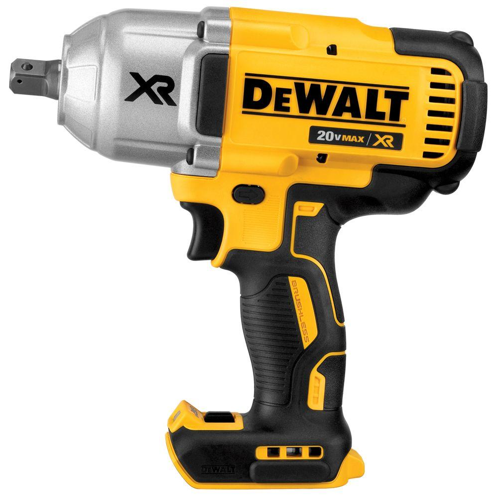 1 2 Cordless Impact >> Dewalt 20 Volt Max Xr Lithium Ion 1 2 In Cordless Impact Wrench Kit With Detent Pin Anvil Tool Only