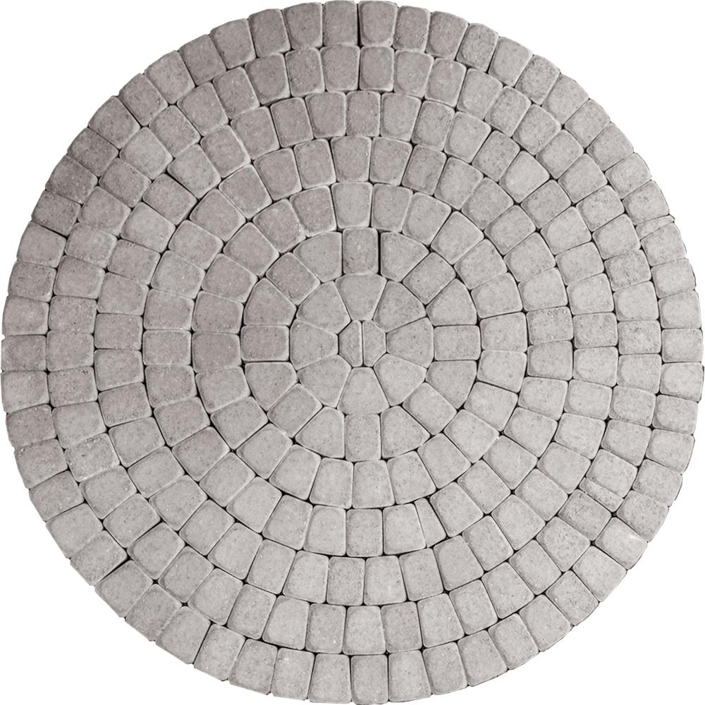 Mutual Materials 83.52 in. x 83.52 in. x 2.375 in. Cascade Blend Concrete Old Dominion Paver Circle Kit