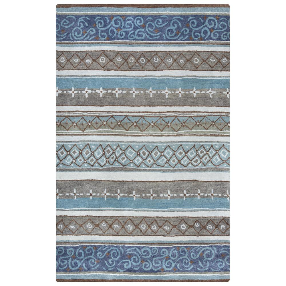 Bradberry Downs Blue Striped 5 ft. x 8 ft. Area Rug