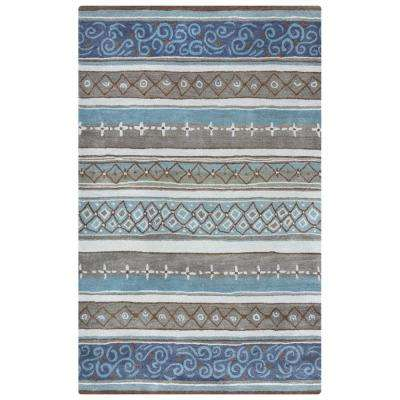 Bradberry Downs Blue Striped 8 ft. x 10 ft. Area Rug