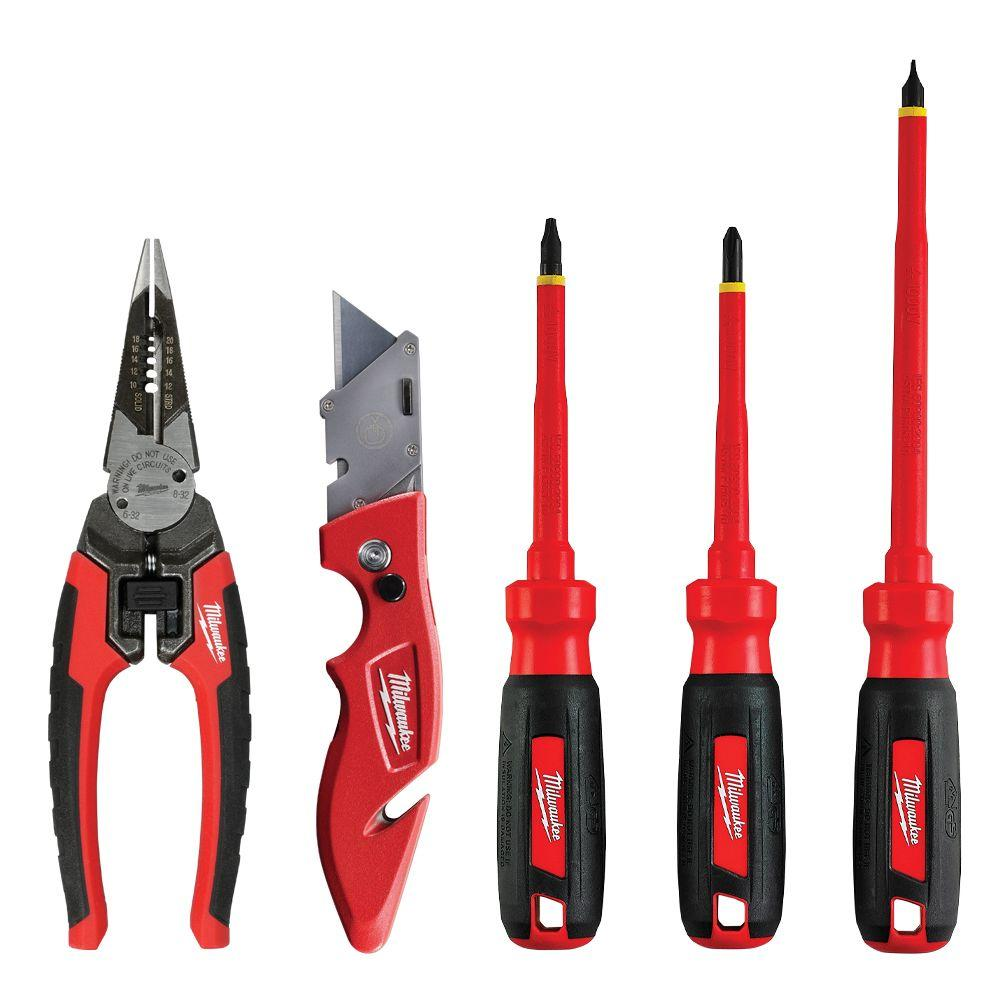 Electrician's Hand Tool Combo Kit (5-Piece)