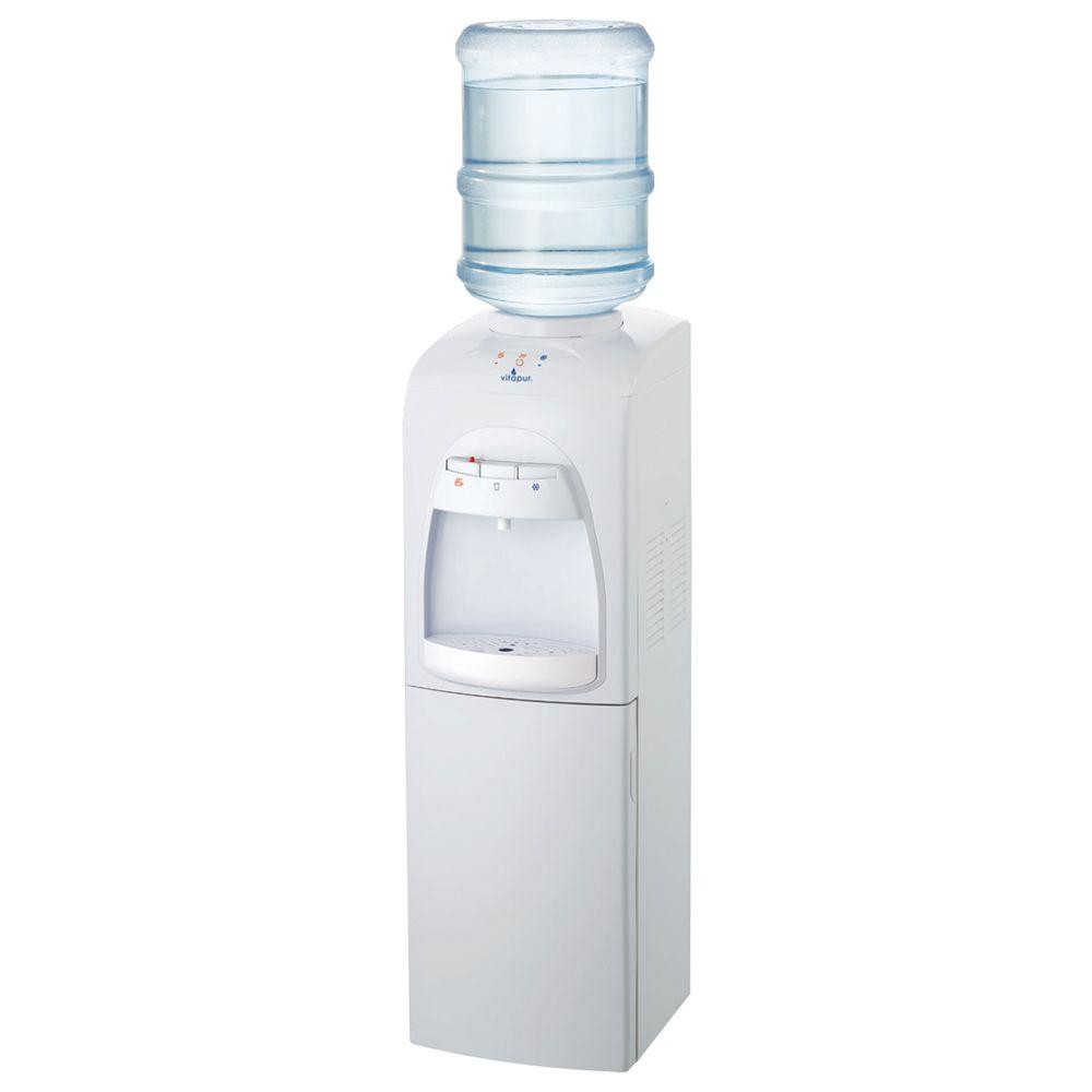 Vitapur Water Dispenser with Refrigerated Compartment in White