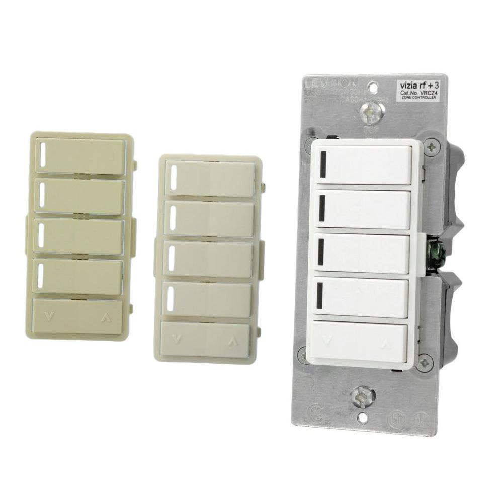 Leviton Vizia RF + 4-Button Remote Zone Controller-VRCZ4-M0Z - The ...