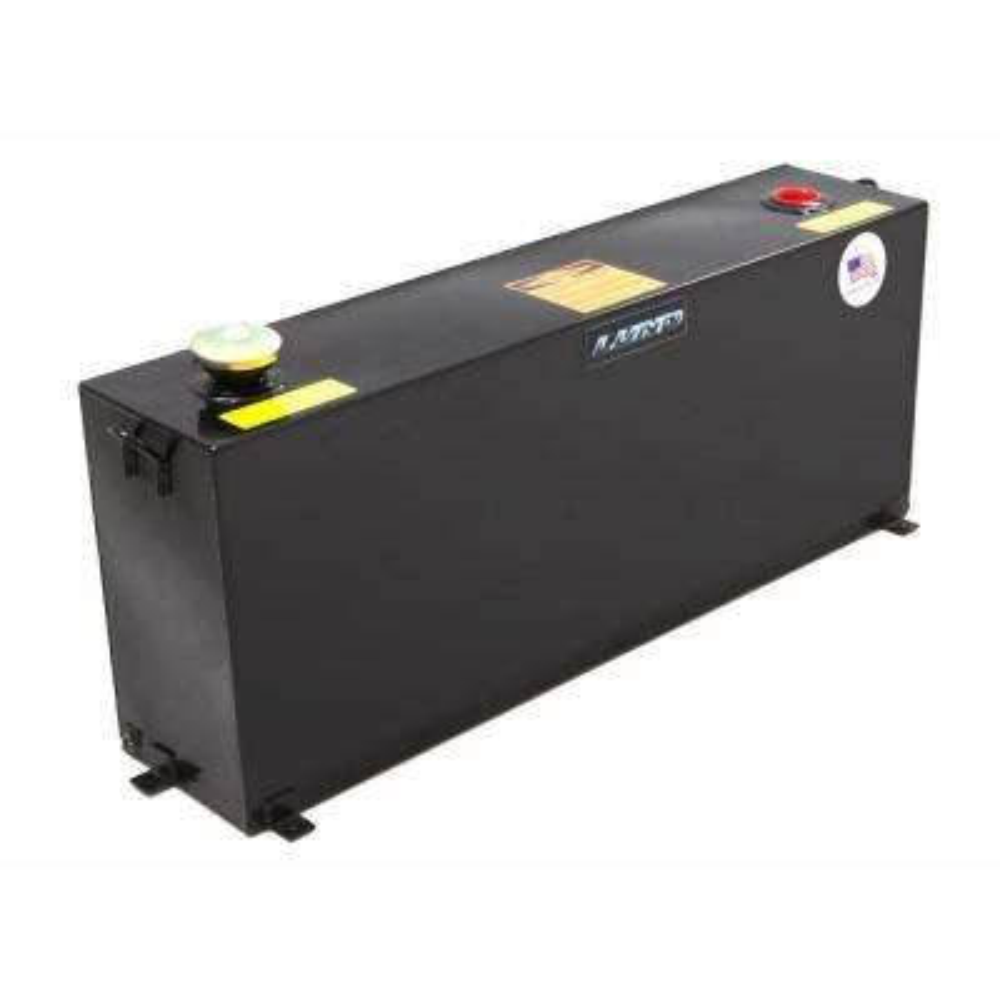 50 Gal. Vertical Liquid Storage Transfer Tank, Black