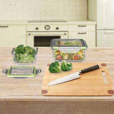 4-Piece Glass Square Storage Container Set