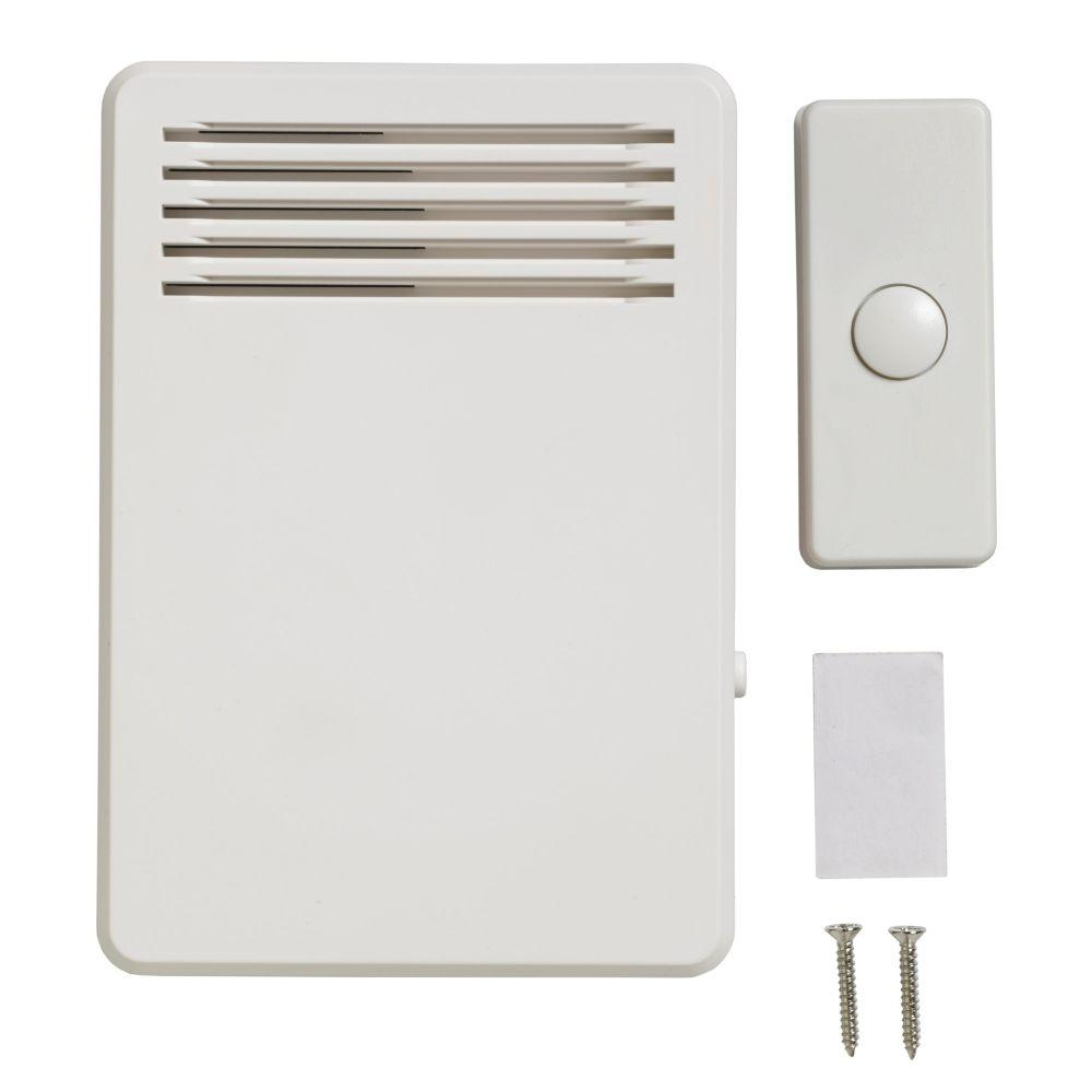 75 dB Wireless Plug-In Door Bell Kit with 1-Push Button White  sc 1 st  The Home Depot & Doorbells \u0026 Intercoms - Electrical - The Home Depot