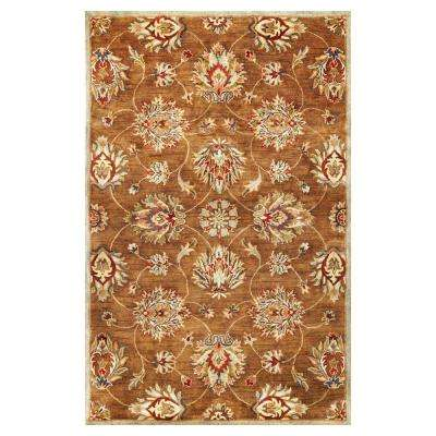 In Style Kashan Coffee 8 ft. x 11 ft. Area Rug