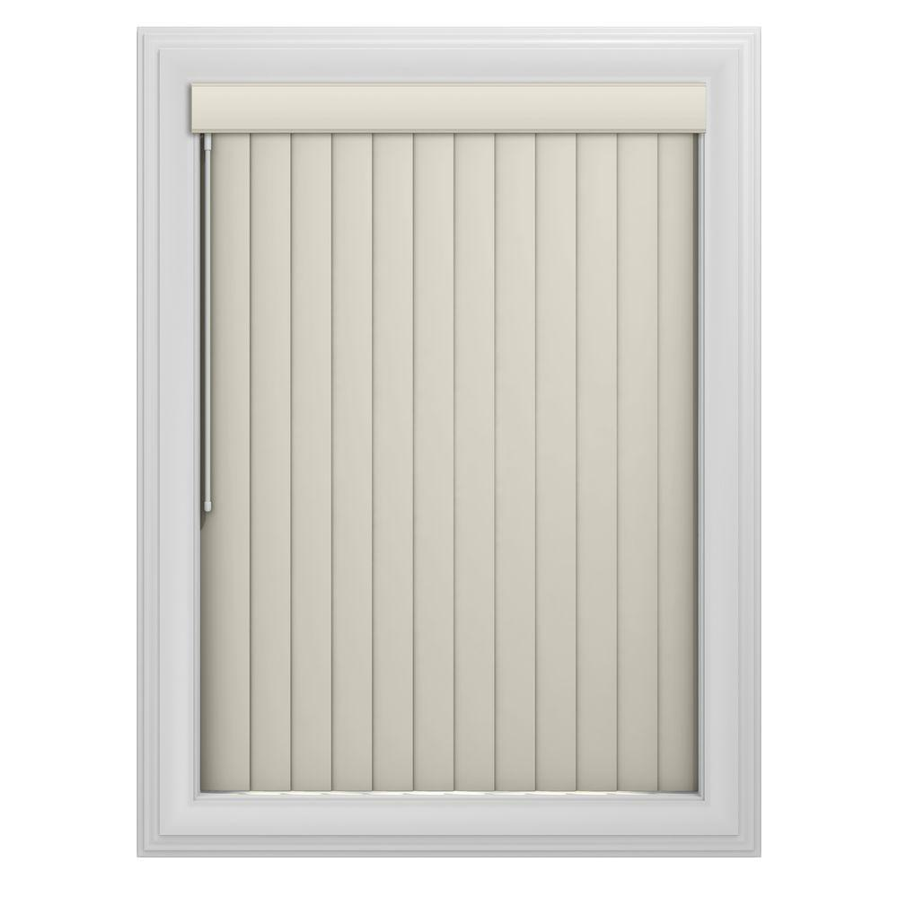 Bali Cut-to-Size Ivory Crown 3.5 in. PVC Louver Set - 91 in. L (9-Pack)