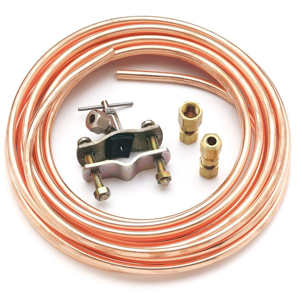 Ge Universal 15 Ft Copper Ice Maker Installation Kit With Piercing Valve Pm8x1 The Home Depot