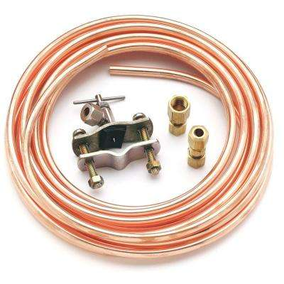Universal 15 ft. Copper Ice Maker Installation Kit with Piercing Valve