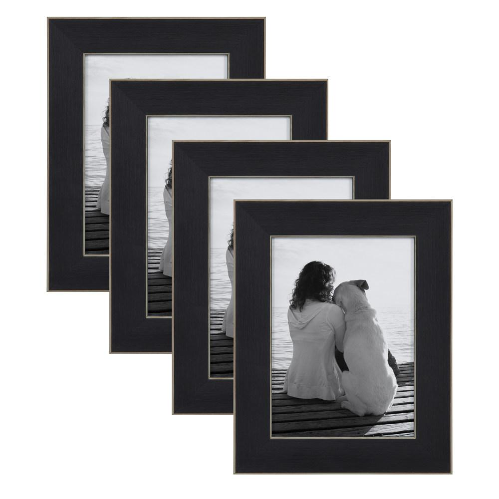Designovation Wyeth 5x7 Black Picture Frame Set Of 4 213605 The