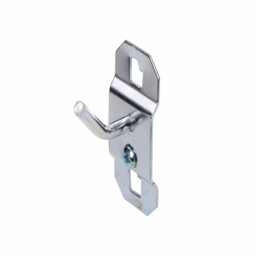 1/2 in. Single Rod 30 Degree Bend 3/16 in. Dia Zinc Plated Steel Pegboard Hook (5-Pack)