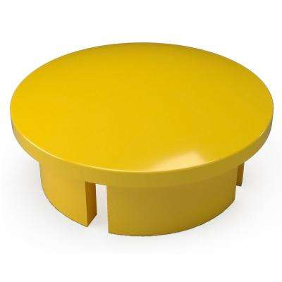 1 in. Furniture Grade PVC Internal Dome Cap in Yellow (10-Pack)