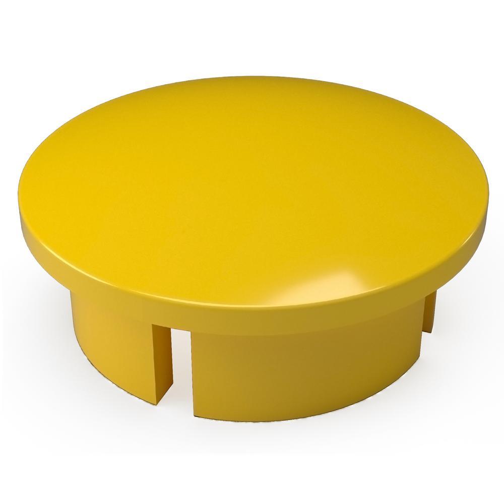 1-1/4 in. Furniture Grade PVC Internal Dome Cap in Yellow (10-Pack)