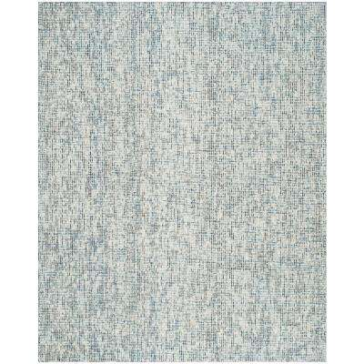 Abstract Blue/Charcoal 8 ft. x 10 ft. Area Rug