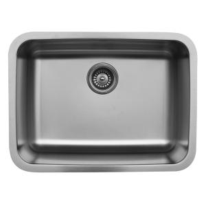 Karran Undermount Stainless Steel 24 In. Single Bowl Kitchen Sink Karran  U 2418   The Home Depot