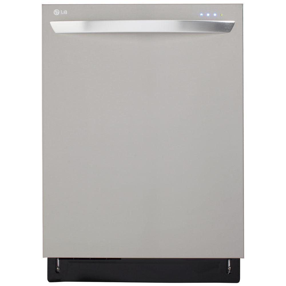 LG Electronics Top Control Dishwasher in Stainless Steel with Stainless Steel Tub and TrueSteam