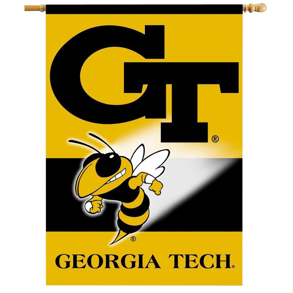 BSI Products NCAA 28 in. x 40 in. Georgia Tech 2-Sided Banner with Pole Sleeve