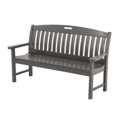 Superb Slate Grey Patio Bench