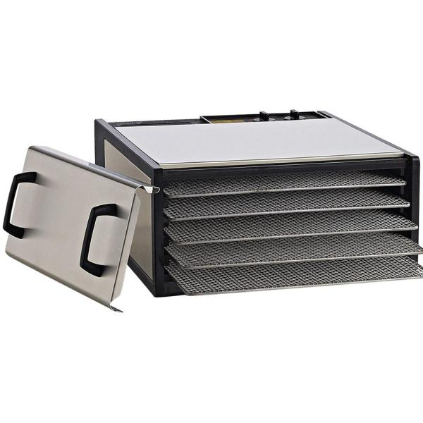 Excalibur 5-Tray Heavy Duty Stainless Steel Food Dehydrator D500SHD