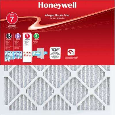 16 in. x 25 in. x 1 in. Allergen Plus Pleated FPR 7 Air Filter (4-Pack)