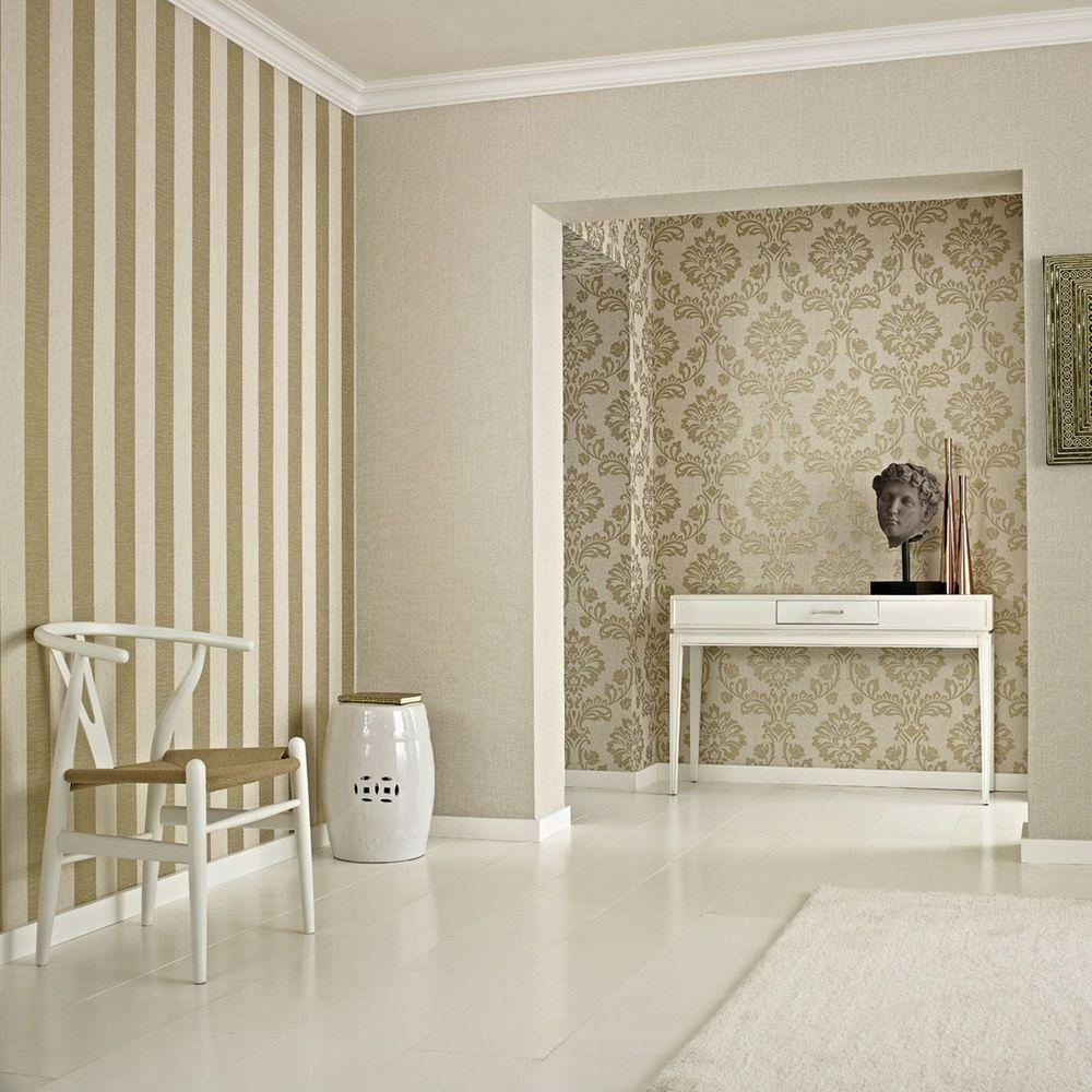 Graham brown gold aurora wallpaper 20 707 the home depot for Graham and brown bathroom wallpaper