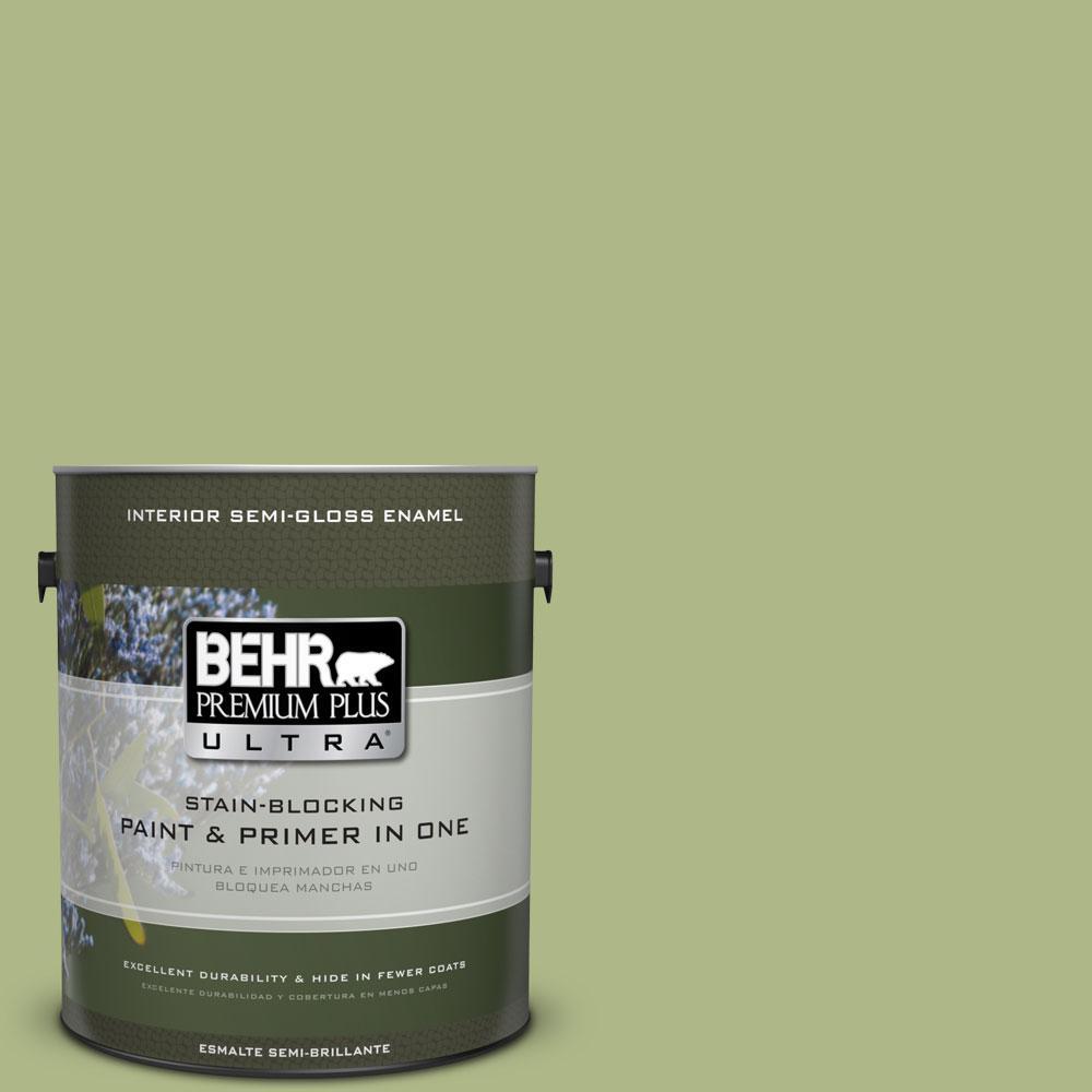 1-gal. #PPU10-7 Lima Green Semi-Gloss Enamel Interior Paint