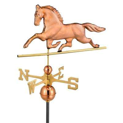 Polished Copper Patchen Horse Weathervane