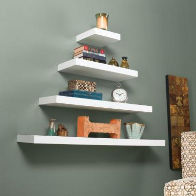 White Floating Decorative Shelving Accessories Shelving