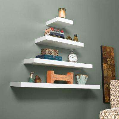 Diego Floating Shelf in White