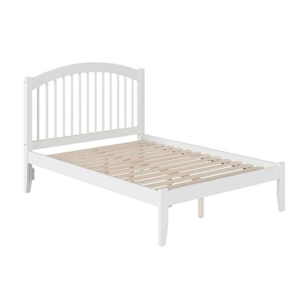 Windsor Full Platform Bed with Open Foot Board in White