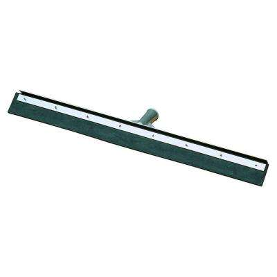 24 in. Black Rubber Floor Squeegee with Metal Frame (Case of 6)