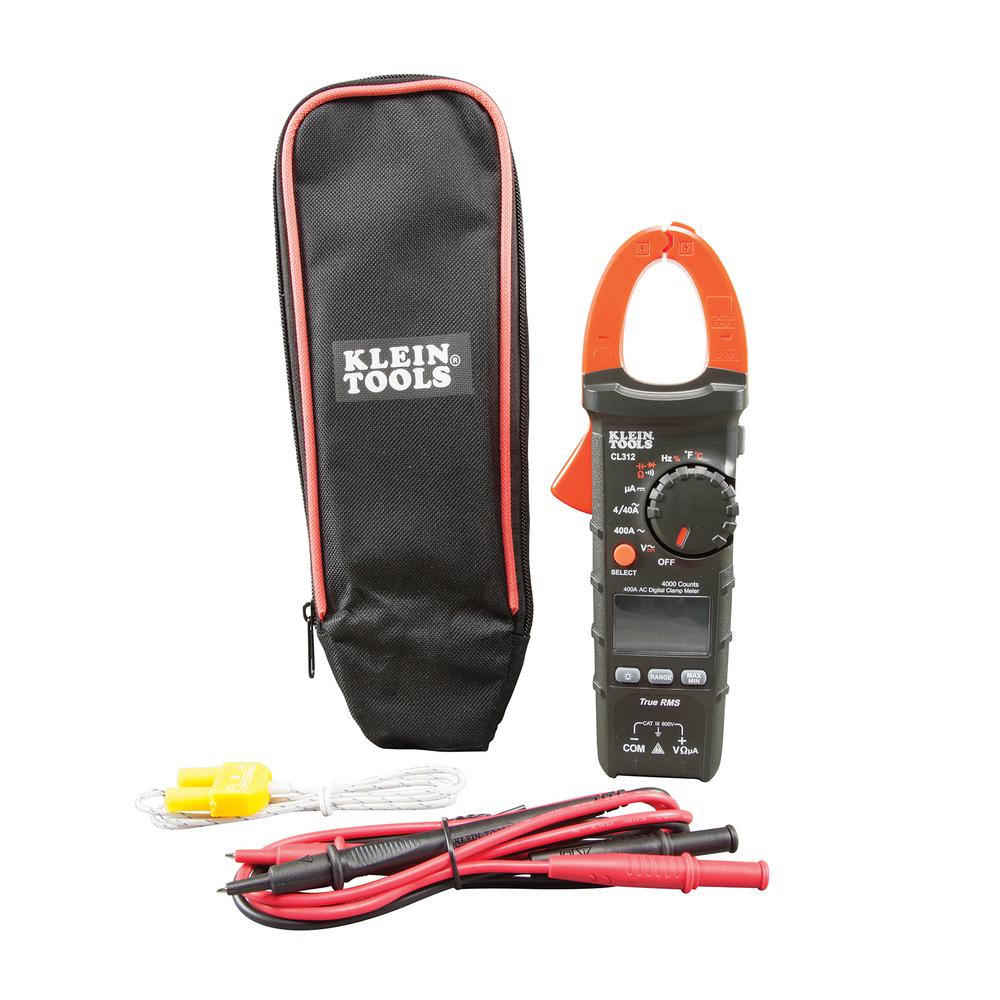 Klein Tools 400A AC Auto-Ranging Digital Clamp Meter for HVAC