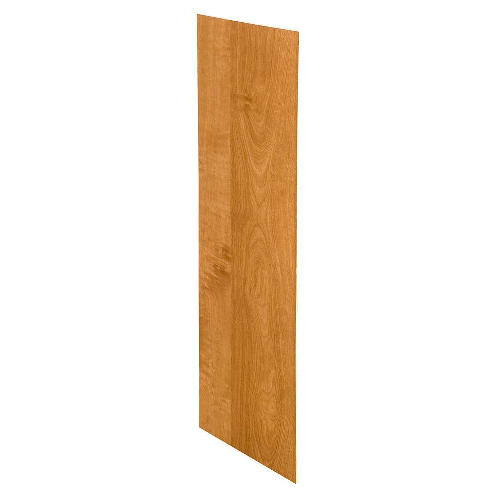 Hargrove Cinnamon Assembled 23.25x18x0.1875 in. Wall Kitchen Skin End Panel