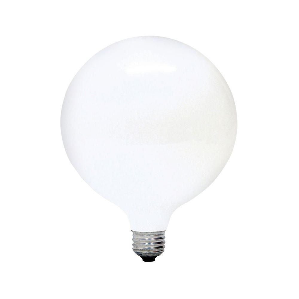 Ge 100 Watt Incandescent G40 Globe Soft White Light Bulb 100g40 W Tp3 The Home Depot