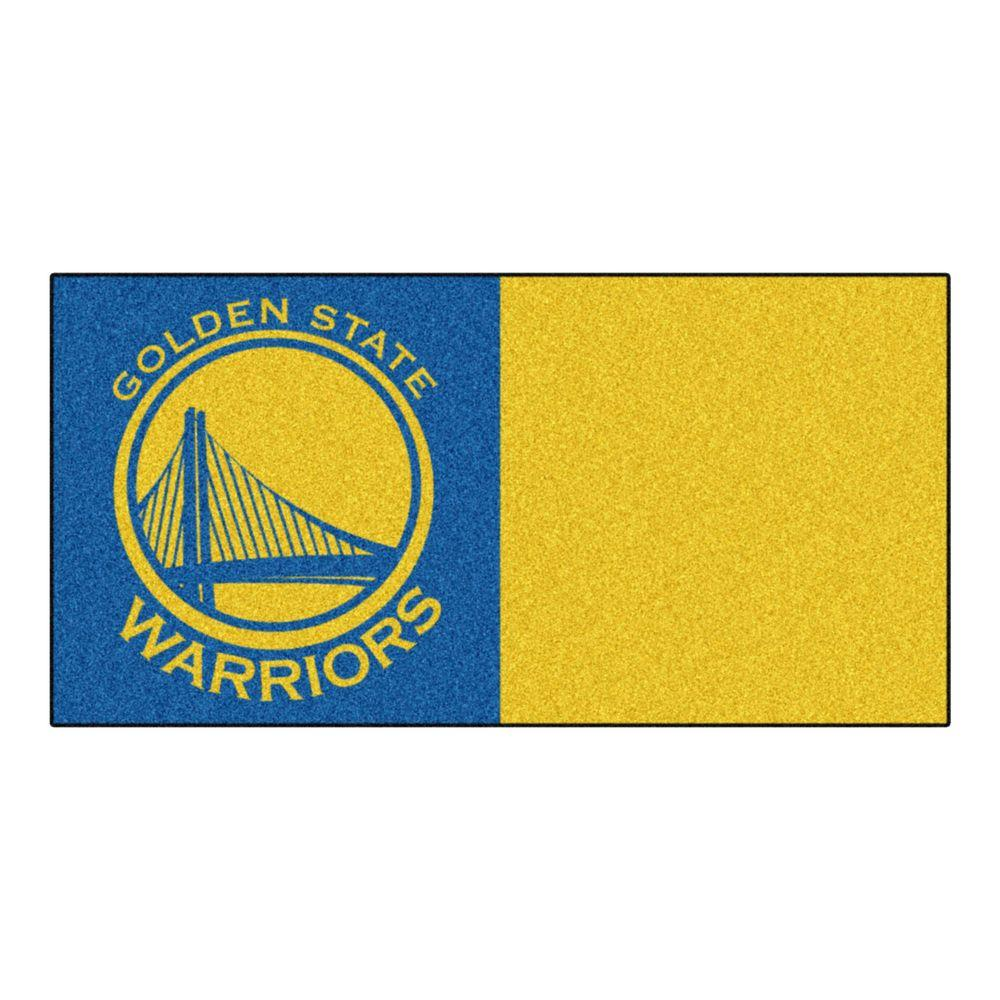 NBA Golden State Warriors Blue and Yellow Pattern 18 in. x