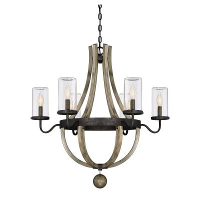 6-Light Weathervane Outdoor Hanging Chandelier