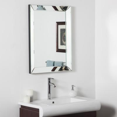 31.5 in. x 23.6 in. Rectangle Mirror Framed Mirror with Beveled Edge