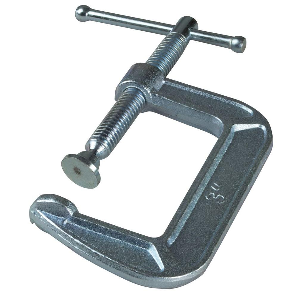 BESSEY 3 in. Drop Forged C-Clamp with 1-3/4 in. Throat Depth