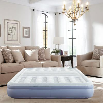 12 in. Queen Size Lumbar Lift Express Tri-Zone Support Raised Air Bed Mattress with Express Pump