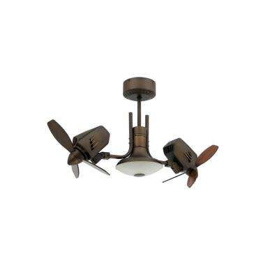 Mustang II 18 in. Dual Motor Oscillating Indoor/Outdoor Rubbed Bronze Ceiling Fan