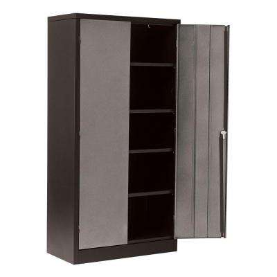 72 in. H x 36 in. W x 18 in. D 5-Shelf Steel Freestanding Garage Storage Cabinet in Silvervein