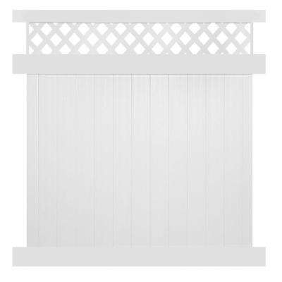 Ashton 5 ft. H x 6 ft. W White Vinyl Privacy Fence Panel Kit