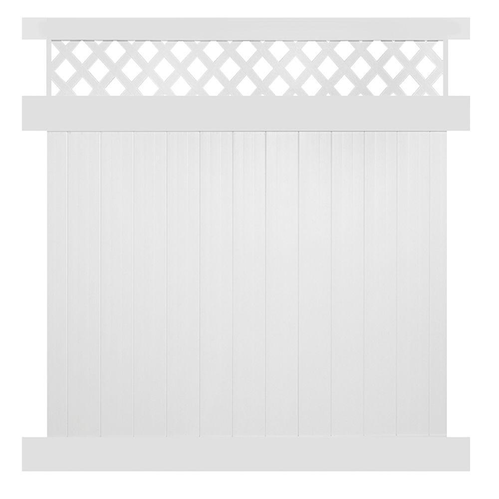 Weatherables Ashton 6 ft. H x 8 ft. W White Vinyl Privacy Fence Panel Kit
