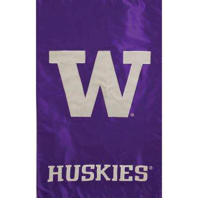 NCAA 12-1/2 in. x 18 in. Washington 2-Sided Garden Flag