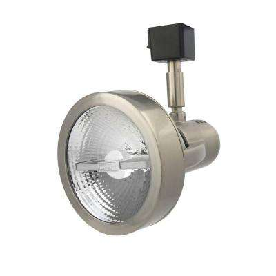 1-Light Brushed Nickel Front Loading Commercial Track Head