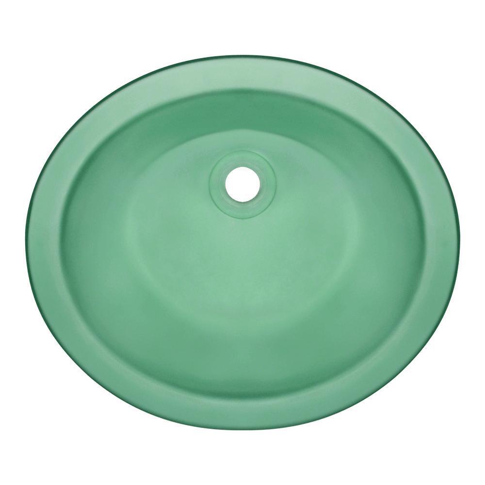 Charming Undermount Glass Bathroom Sink In Emerald