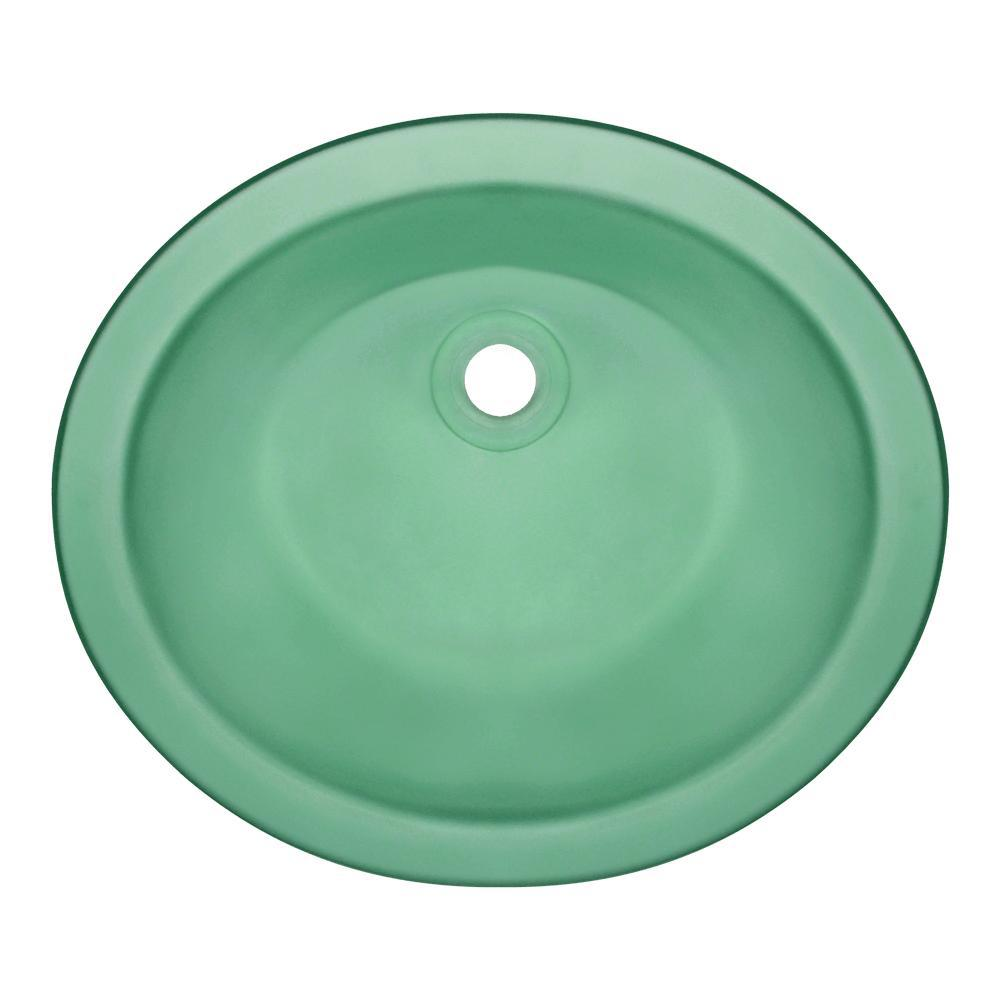 Polaris Sinks Undermount Glass Bathroom Sink In Emerald Pugm E The