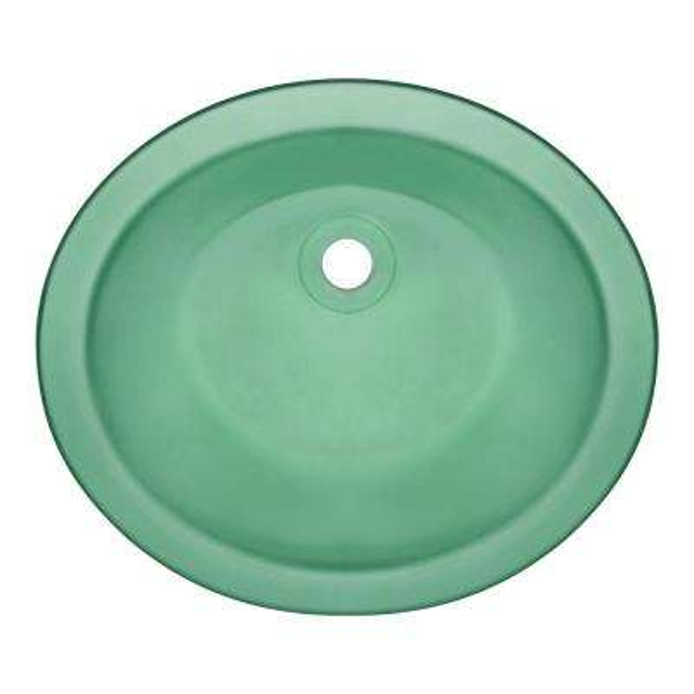 Undermount Glass Bathroom Sink in Emerald